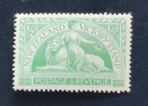 New Zealand Stamp 1920 Victory 1/2d Green - Mint Light Hing
