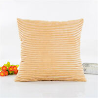 Soft Fur Plush Throw Pillow Cases Home Decor Sofa Waist Fluffy Cushion Cover S