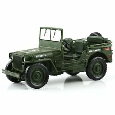 1:18 KDW Jeep Willys Scale Diecast Modèle Militaire US Army Véhicule Jouets