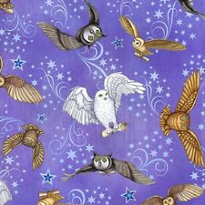 Spellbound - Owl Messengers - Mystic Purple by Dan Morris , 100% cotton fabric
