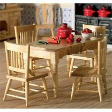 Kitchen Table & Four Chairs 1:12 Scale for Dolls House (2037)