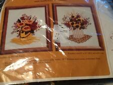 1981 The CREATIVE CIRCLE EMBROIDERY KIT SUNFLOWER BY PHILLIS KIGER #0525   #1/4