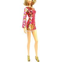 Barbie Fashion Glitter Print Mini Dress with Stilletos Heidi Klum