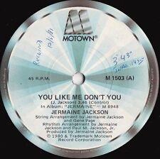 Jermaine Jackson ORIG OZ 45 You like me don't you EX '80 Motown M1503 Soul