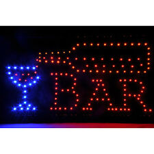Open Bar Led Neon Motion Light Sign 110Vac 8W Man Cave Pub Decor In Door 19x10in