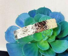 15mm Gold Hawaiian Royal Maile Heirloom Bangle Bracelet