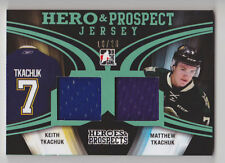 KEITH MATTHEW TKACHUK 2015-16 ITG Heroes & Prospects Emerald Jersey #D 16/20