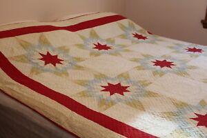 Vintage Cotton Patchwork Quilt 76x78 OLDIE1