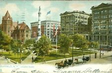 Buffalo, NY 1906 around Lafayette Square, a Tuck Post card