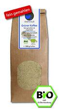 Grüner Kaffee Bio - FEIN GEMAHLEN 200g (veganer Rohkaffee z. B. für Smoothies)