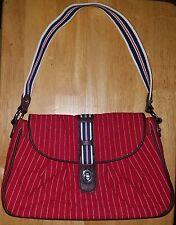 Vera Bradley 'Seaport Stripe' (Red) Tote Purse  -Excellent Condition-