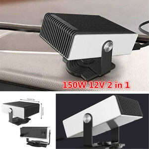 150W 12V 2 in 1 Portable Car Truck Heater Fan Heating Cooling Defroster Demister