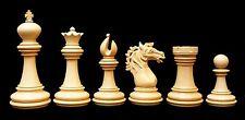 """Regal Series 4"""" Premium Staunton Chessmen in Ebony Wood"""