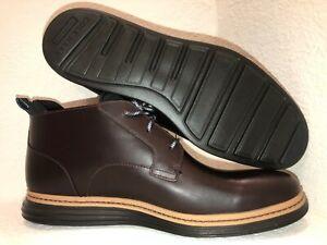 Cole Haan Original Grand Chukka Deep Mahogany Waterproof/Black Men's Shoes Sz 12