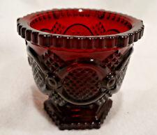 "Vintage Avon 3.5""x 3.5"" Tall Cranberry Condiment Bowl"