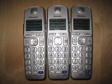 Lot of 3 Panasonic Kx-Tgea20 Dect 6.0 Cordless Expansion Handset Phone