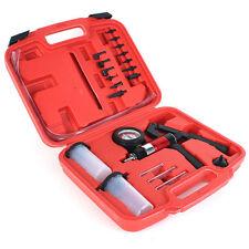 Hand Held 21pcs Vacuum Pressure Pump Tester Brake Fluid Bleeder Bleeding Kit