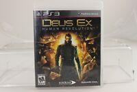 Deus Ex: Human Revolution (PlayStation 3, 2011) PS3 Tested Free Shipping CIB