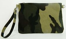 Petite pochette Sac sacoche bandouliere toile vert kaki camouflage homme femme