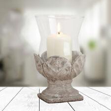 Deko Windlicht Blume aus Keramik/Glas Höhe 20cm