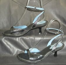 Indigo by Clarks black leather ankle strap sandals Women's shoes size 7 1/2 M