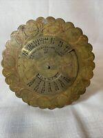 Perpetual 40 Year Brass Calendar 1967 To 2006
