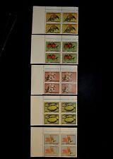 Romania 2010 Botanical Flower Issue - MNH Corner Blocks of 4 with Inscriptions