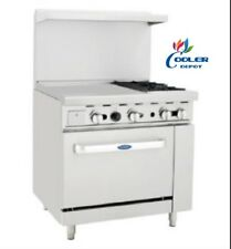 """NEW 36"""" Commercial Gas Oven Range 24"""" Griddle and 2 Burner Stove Top Combo NSF"""