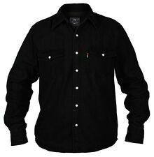 Big Kingsize New Mens Duke Western Long Sleeve Black Denim Jean Shirt