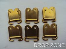 WWII Military SMLE Brass Rifle Sling Webbing Attachments / Clip Ends x 6