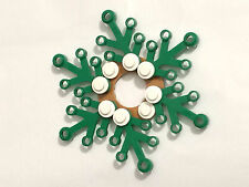 *NEW* Lego GREEN Christmas Holiday SNOWFLAKE WREATH with WHITE LIGHTS