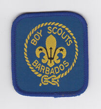 SCOUT OF WEST INDIES BARBADOS - BOY SCOUTS BARBADOS WOVEN EMBLEM Patch