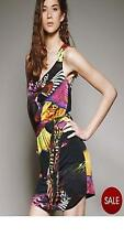 Very/Love Label Printed Knotted Tunic Top 16 Black/Multi