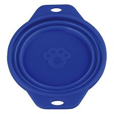 Trixie Travel Bowl, 0.5L 14 cm, Red Blue Silicone Easy Clean Foldable Dishwasher