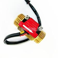 "G1/2"" Threaded Water Hall Flow Sensor Switch Turbine Flowmeter Control DN15"