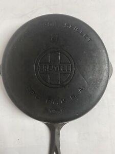 "Vintage Griswold Cast Iron #8 Skillet 10.5"" Fry Pan 704P Large Logo"