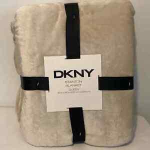 Queen Size Blanket Tan DKNY