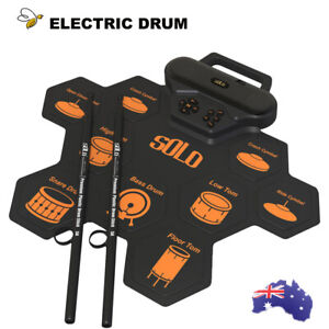 Electronic Roll Up Drum Kit Silicone Portable Electric Hand Roll Drum Kit 9 Pad