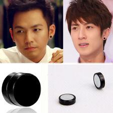 Punk Earrings Round Magnetic Clip Earrings No Piercing Clip On Unisex Jewelry
