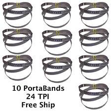"10 Cobalt Portable Bandsaw Blades 24 TPI Portaband 44-7/8"" long Starrett Brand"