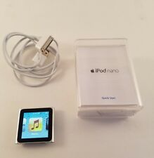 Apple iPod Nano 6th Generation Silver 8GB With Cable, Paperwork Bundle, Tested