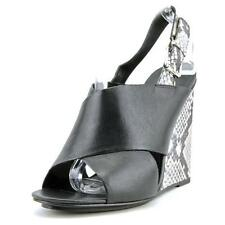 High (3 in. to 4.5 in.) Wedge Leather Heels for Women