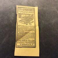 Stop Smoking - Australia - 1910 Advertisement