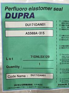 New sealed,DUPRA Perfluoro Elastomer Seal, DU171DAN01, AS568A-315.