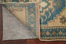 SET OF 2 SQUARE Vintage Geometric Oushak Turkish Oriental Area Rug Carpet 2'x2'