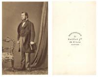 Grillet, Un homme prend la pose CDV vintage albumen carte de visite,  Tirage a