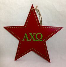 Alpha Chi Omega Star Decorative Wall Plaque Sorority College Dorm Decor 9-1/2""