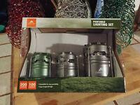 Ozark Trail 3 Lantern Portable Lighting Set Camping 100-200 Lumen