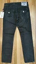 True Religion Men's Ricky Stitch Distressed Black Jeans R100F7 Size 31X34