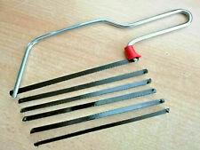 Puksäge 150 mm + 5 Ersatzsägeblätter HSS Bügelsäge Handsäge Haushaltssäge